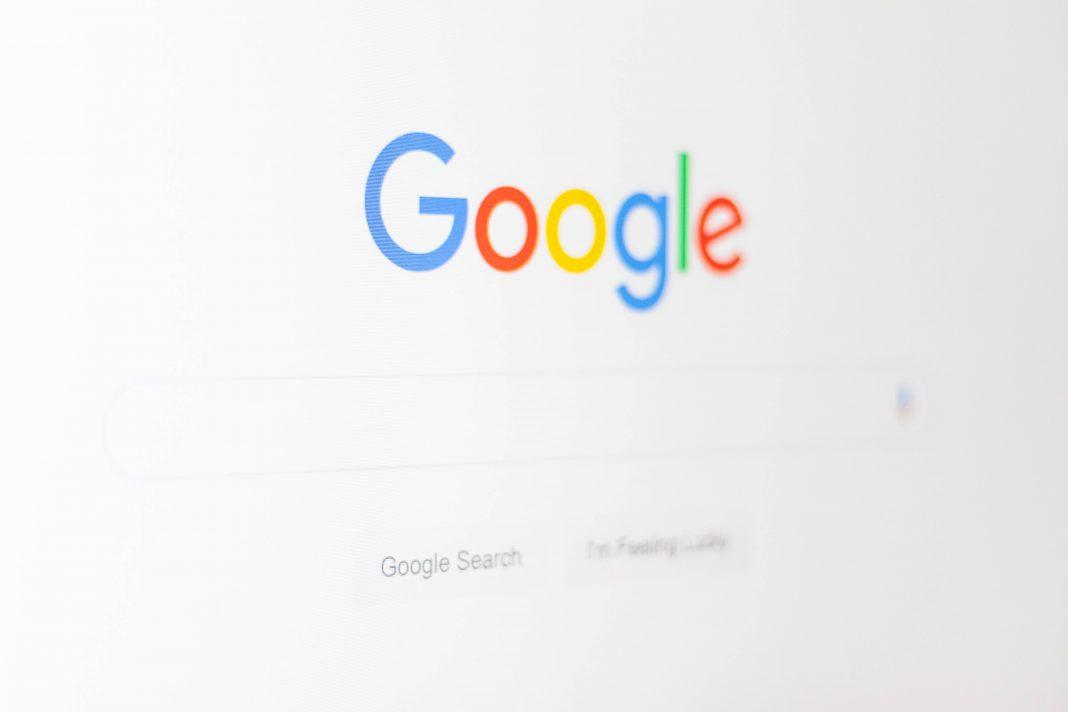 Google logo on screen